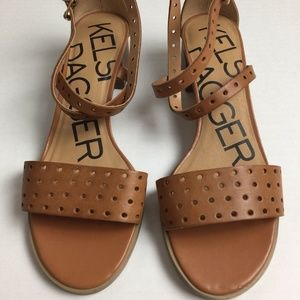 Kelsi Dagger 7.5 Perforated Sandals 7 1/2 Strappy